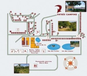 plan domaine naturiste Petit Arlane - Valensole